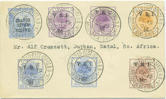 There was much philatelic use by both soldiers and civilians.